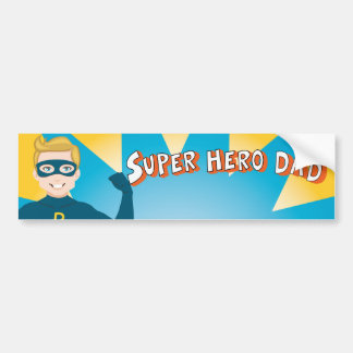 Super Hero Dad Bumper Sticker