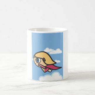 Super Hero Flying with blonde hair Mug
