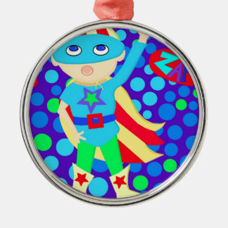 Super Hero  Kid Christmas Ornament