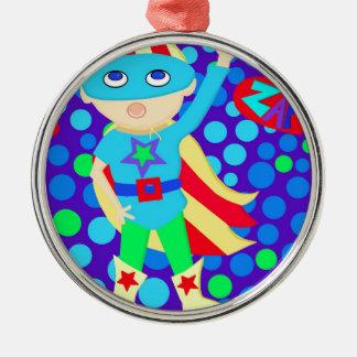 Super Hero Kid Christmas Ornament