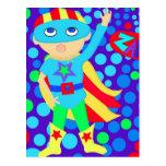 Super Hero  Kid Postcard
