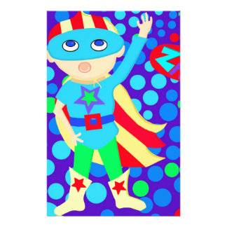 Super Hero  Kid Stationery