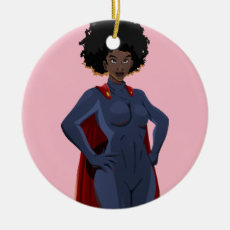 Super Hero Lady Christmas Ornament