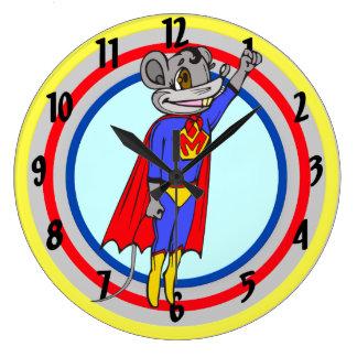Super Hero Mouse Wall Clock