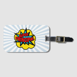 Super Hero Principal Luggage Tag