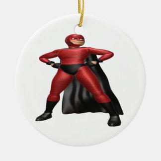 Super Hero Round Ceramic Decoration