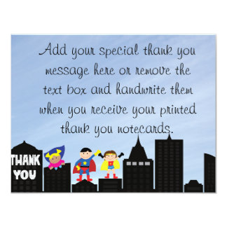 Super Hero Thank You Cards 11 Cm X 14 Cm Invitation Card
