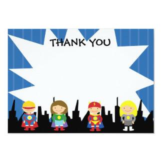 Super Hero Thank You Notes 13 Cm X 18 Cm Invitation Card