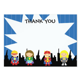Super Hero Thank You Notes Card