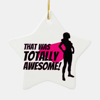 Super Hero Woman Power Christmas Ornament