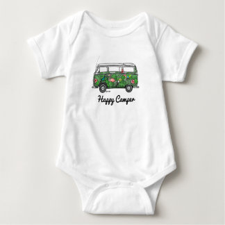 Super hopped rompertje with happy camper baby bodysuit