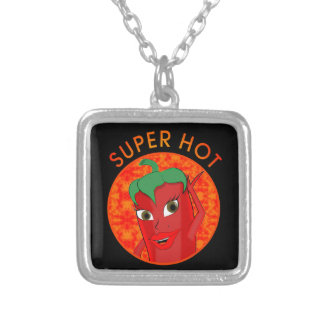Super Hot Pepper Diva Silver Plated Necklace