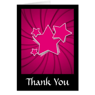 Super Hot Pink Stars and Swirl Background Cards