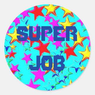 Super Job Star Sticker