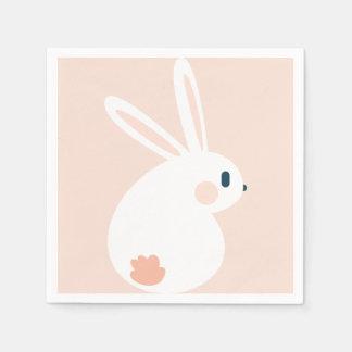 Super Kawaii Cute Easter Bunny. Disposable Napkins