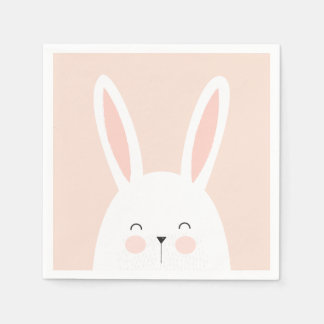 Super Kawaii Cute Easter Bunny. Disposable Serviettes