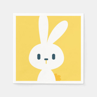 Super Kawaii Cute Easter Bunny. Paper Napkin