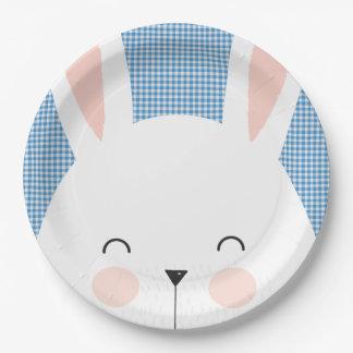 Super Kawaii Cute Easter Bunny. Paper Plate