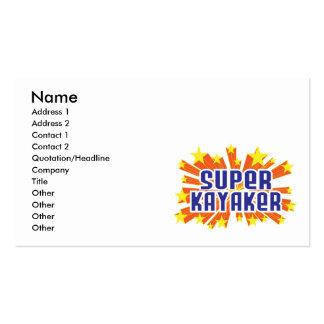 Super Kayaker Pack Of Standard Business Cards