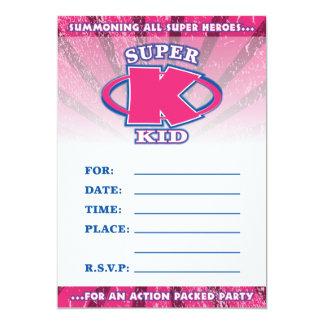 Super Kid Girls Invitation