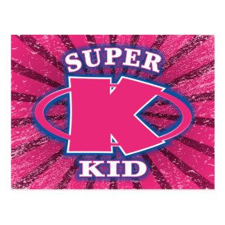 Super Kid Girls Postcard
