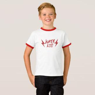 Super Kid Lightning Bolt Rock'n Roll Red Super T-Shirt