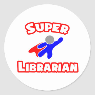 Super Librarian Classic Round Sticker