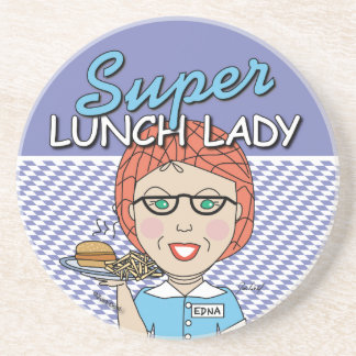 Super Lunch Lady Beverage Coasters