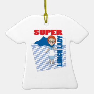 Super Lunch Lady Double-Sided T-Shirt Ceramic Christmas Ornament