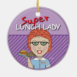 Super Lunch Lady Ornaments