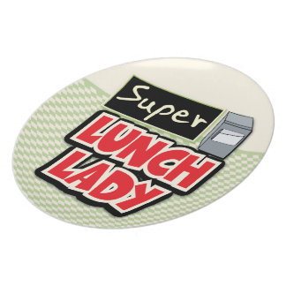 Super Lunch Lady Party Plate