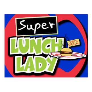 Super Lunch Lady Postcard