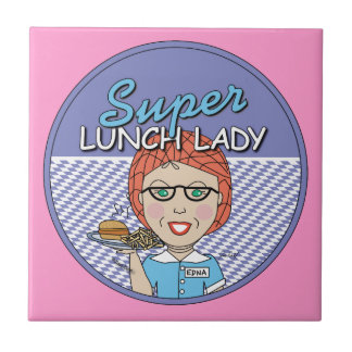 Super Lunch Lady Small Square Tile
