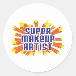 Super Makeup Artist Round Sticker