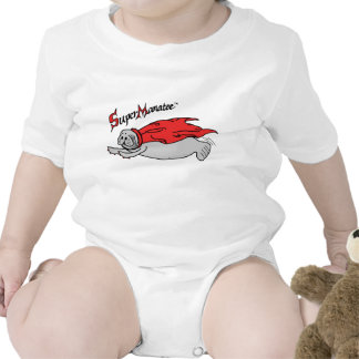 Super Manatee! baby front design Baby Bodysuits