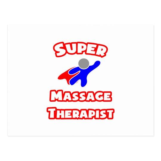 Super Massage Therapist Postcard