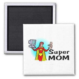 Super Mom (Corporate) Square Magnet