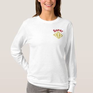 Super Mom Embroidered Long Sleeve T-Shirt