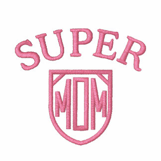Super Mom Logo Mother's Day embroidered shirt