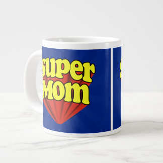 Super Mom Red/Yellow/Blue Superhero Mother's Day Large Coffee Mug