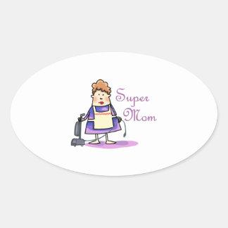 Super Mom Oval Sticker