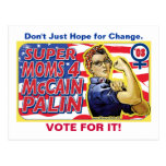Super Moms for McCain Palin Post Cards