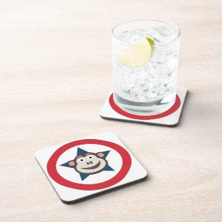 Super Monkey Cork Coasters (Square)