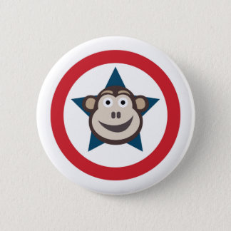 Super Monkey Graphic 6 Cm Round Badge