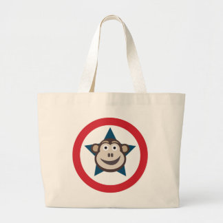 Super Monkey Graphic Large Tote Bag
