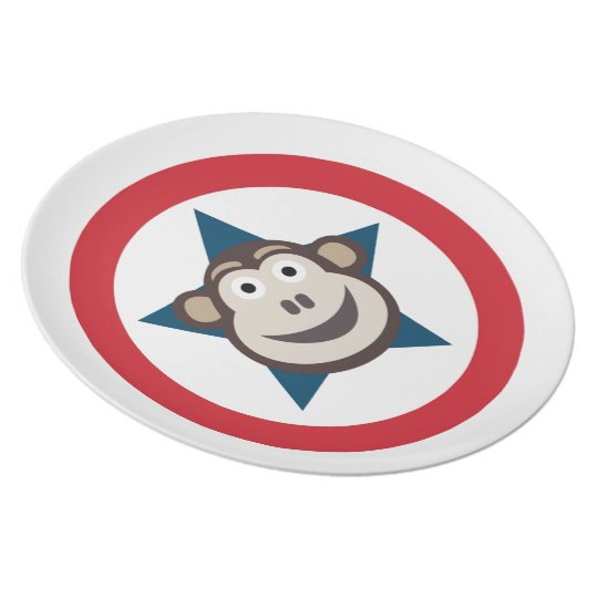 Super Monkey Melamine Plate