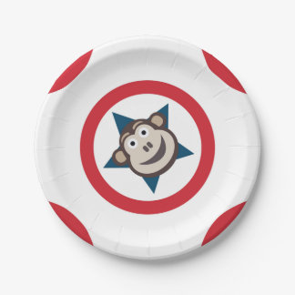 Super Monkey Paper Plates 7 Inch Paper Plate