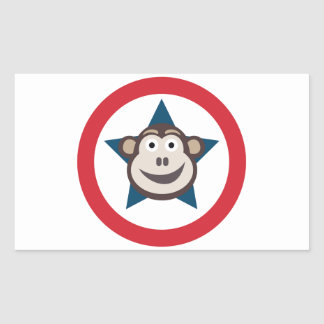 Super Monkey Sheet of Stickers (Rectangular