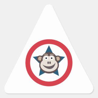 Super Monkey Sheet of Stickers (Triangular)
