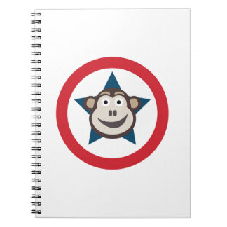 Super Monkey Spiral Notebook
